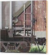 Freight Train Wheels 16 Wood Print