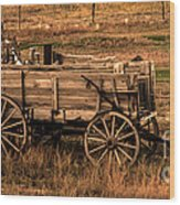 Freight Wagon Wood Print by Robert Bales