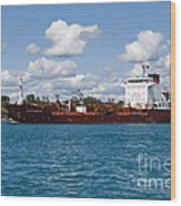 Freighter Wood Print