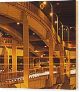 Fremont Bridge Wood Print
