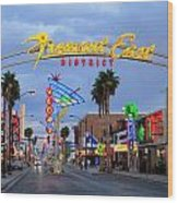 Fremont East District Wood Print