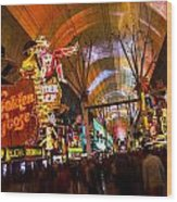 Fremont Street Experience Lights Wood Print