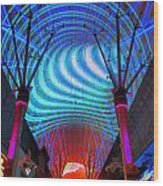 Fremont Street Experience Three Wood Print
