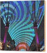 Fremont Street Experience Two Wood Print