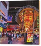 Fremont Street Lights 2 Wood Print