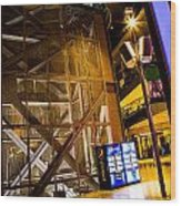 Fremont Street Structure Wood Print