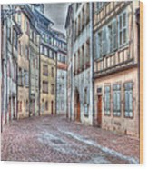 French Alley Wood Print