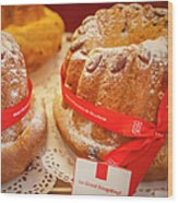 French - Alsace Pastry Wood Print