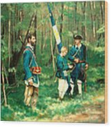 French And Indian War Wood Print