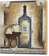 French Bordeaux Original Madart Painting Wood Print