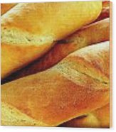 French Bread Wood Print
