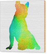 French Bulldog Image Art Silhouette Wood Print