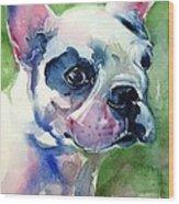 French Bulldog Painting Wood Print