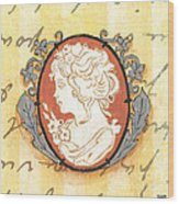 French Cameo 2 Wood Print