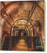 French Champagne Cellar Wood Print