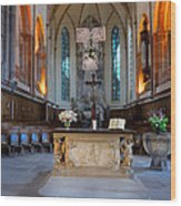 French Church Alter Wood Print