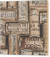 French Corks Wood Print by Debbie DeWitt