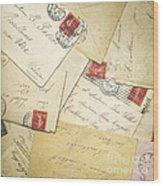 French Correspondence From Ww1 #1 Wood Print