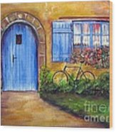 French Cottage Wood Print