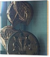 French Country Copper Molds Wood Print