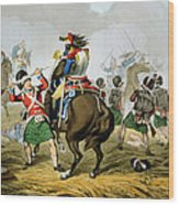 French Cuirassiers At The Battle Wood Print