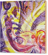 French Curve Abstract Movement II Wood Print
