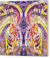 French Curve Abstract Movement V Magic Butterfly  Wood Print