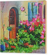 French Door Wood Print