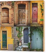 French Doors Wood Print by Inge Johnsson