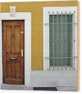 French Doorway Wood Print