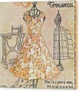 French Dress Shop-c Wood Print