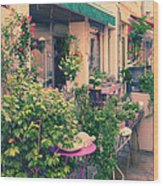 French Floral Shop Wood Print