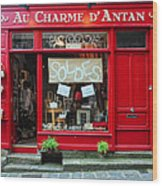 French Gift Shop Wood Print
