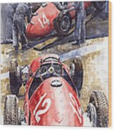 French Gp 1952 Ferrari 500 F2 Wood Print