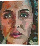 French Gypsy Girl Wood Print