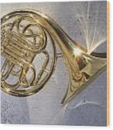 French Horn Iv Wood Print