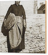 French Lady With A Very Large Bread France 1900 Wood Print