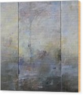 French Landscape Triptych Wood Print