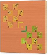 French Lillies Abstract Wood Print