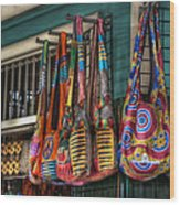 French Market Bags Wood Print