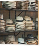 French Market Hats Wood Print