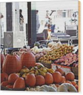 French Market - New Orleans Wood Print by Katie Spicuzza