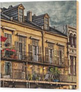 French Market View Wood Print by Brenda Bryant