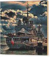 French Naval Frigate Wood Print