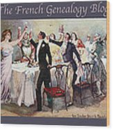 French New Year With Fgb Border Wood Print