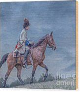 French Officer On Horse Grand Encampment  Wood Print