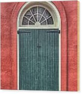 French Quarter Arched Door Wood Print by Brenda Bryant