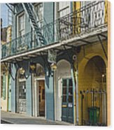 French Quarter Art And Artistry Wood Print