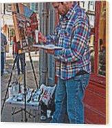 French Quarter Artist Wood Print by Steve Harrington