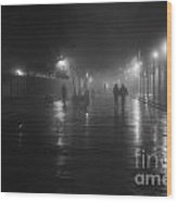 French Quarter At Night Wood Print
